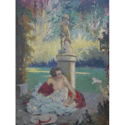 2023 - William Albert Ablett (French, 1877-1937), 'Fin d'ete', oil on canvas, signed lower right, H.90.5 W....