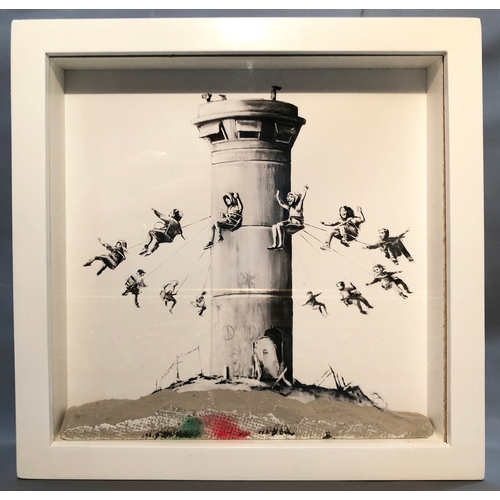 2005 - Banksy (British, b.1974), Walled Off Box Set, 2017, Giclee print with concrete piece of wall, togeth...