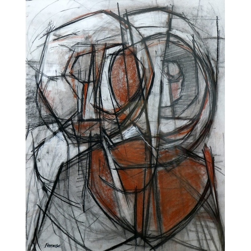 2007 - Ralph Freeman (b.1945), 'Lovers, Zennor', charcoal and conte crayon on paper, 1987, signed lower lef...