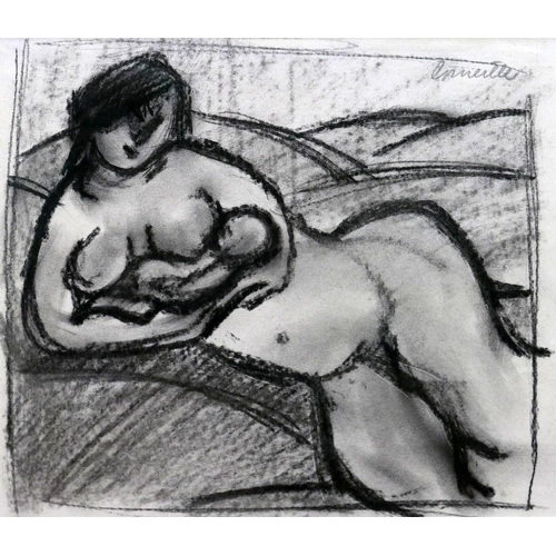 2008 - Corneille (Dutch 1922-2010), 'Nude Holding Baby', pastel drawing, signed in pencil upper right, H.20...