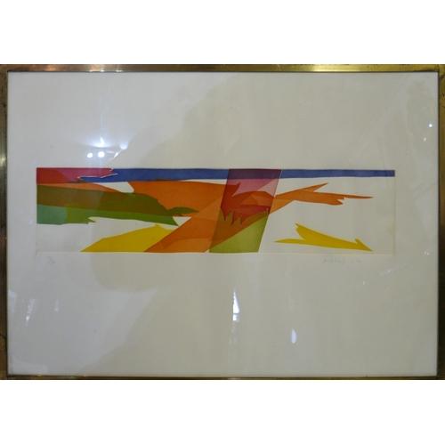 2003 - Piero Dorazio (Italian, 1927-2005), 'Hann 11', aquatint, 1969, signed in pencil, 41/90, blind stampe...