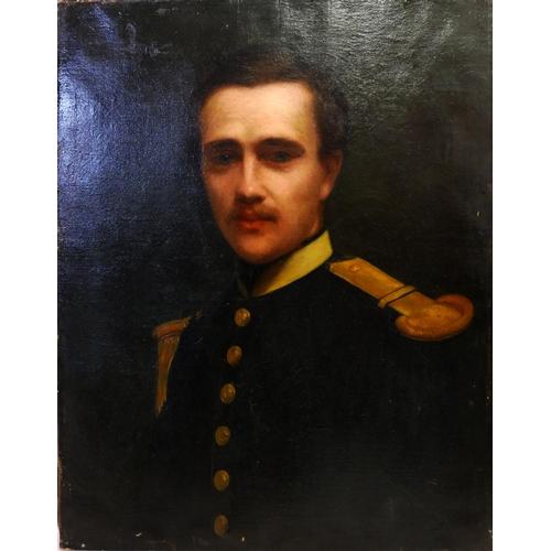 2026 - Paul Désiré Trouillebert (French, 1829–1900), portrait of a soldier, oil on canvas, H.62cm W.50cm...