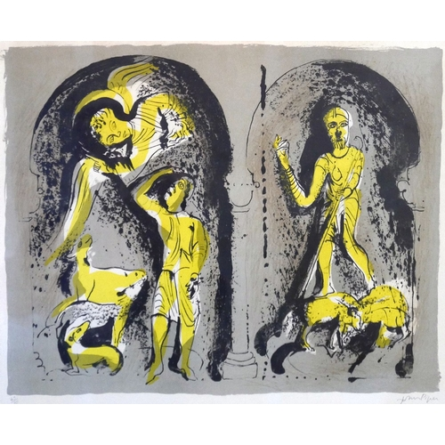 2004 - John Piper (British, 1903-1992), 'Annunciation to the Shepherd', lithograph, 1973, signed in pencil,...