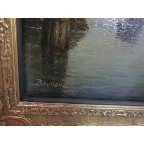 2029 - Antoine Bouvard (French, 1870-1956), A Venetian Canal Scene, oil on canvas, signed lower left, H.48c...