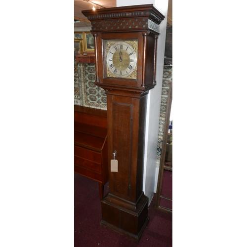 232 - A 19th century oak longcase clock, H.189cm...