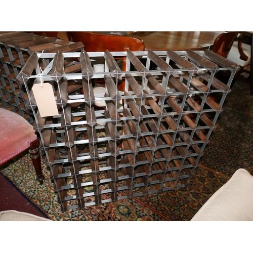 309 - A 64 bottle wine rack...