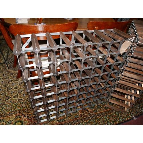 311 - A 64 bottle wine rack...