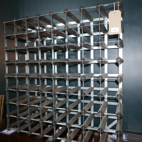 313 - A 64 bottle wine rack...
