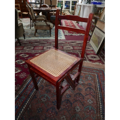 358 - A 20th century mahogany metamorphic ladder chair...