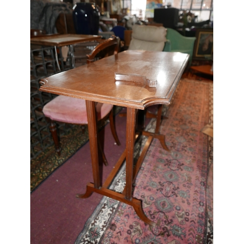 368 - An early 20th century mahogany side table, H.79 W.102 D.47cm...