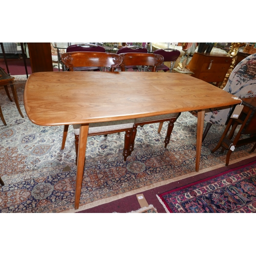 233 - A mid 20th century Ercol elm dining table, H.72 W.152 D.78cm...