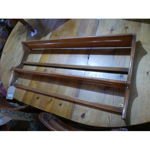 291 - A mid 20th century Ercol plate rack...