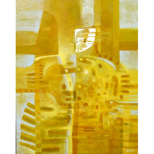 12 - Armando Lopez Becerra (Contemporary Mexican), 'Sanctus.L.Irazu', oil on canvas, signed lower right, ...