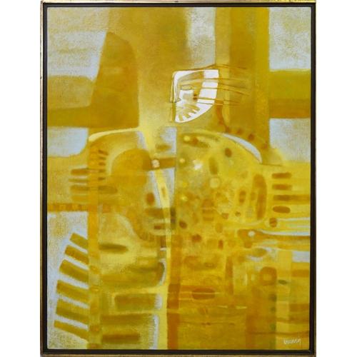 12 - Armando Lopez Becerra (Contemporary Mexican), 'Sanctus.L.Irazu', oil on canvas, signed lower right, ...