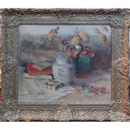 33 - Jacoba Surie (Dutch, 1879-1970), Still life study, oil on canvas, in gilt frame, 50 x 60cm...