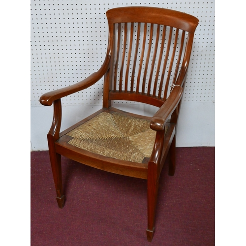 269 - A late 19th century mahogany Arts and Crafts armchair H.98cm...