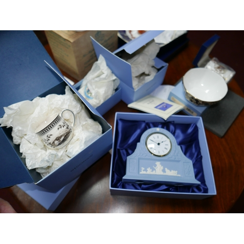 82 - A collection of cased Wedgwood pieces and Royal Crown Derby...