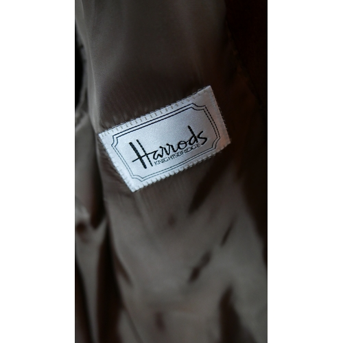 96 - A gents Canali wool and angora overcoat, retailed by Harrods, label size 48...