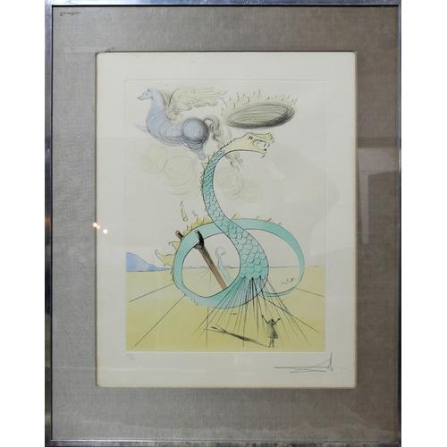10 - Salvador Dali (Spanish, 1904-1989), 'Twelve Tribes of Israel', 'Dan', 1972 drypoint etching, 122/195...
