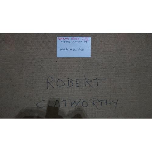 7 - WITHDRAWN: Robert Clatworthy R.A. (British, 1928-2015), 'Triptych IV', 1981, photographic study, art...