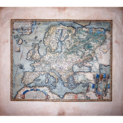 1 - An Italian map of Europe, Clariss D. Nicolao, hand-coloured engraving, 35 x 47cm...