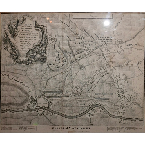 24 - A map of the Battle of Maestricht, a plan of the camp of the army of the allies, 'For Mr Tindal's Co...