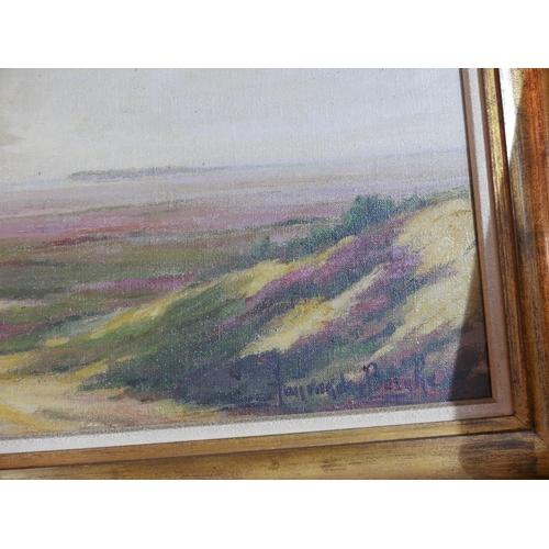 45 - Willem Jan van den Berghe (Dutch, 1823-1901), Landscape study, oil on canvas in gilt frame, 64 x 89c...