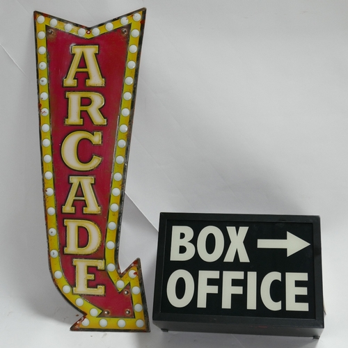 216 - A light up Box office sign...