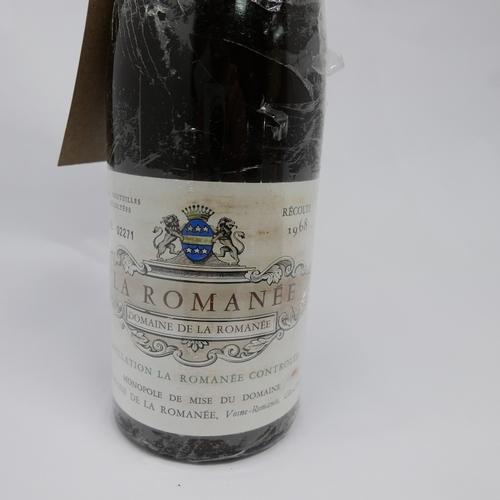 24 - A bottle of La Romanée Grand cru 1968 Domaine de La Romanée...