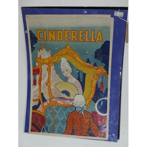 43 - A 1920's Cinderella lithographic poster, Taylors Wombwell, Yorks, printed in colours, 80 x 52cm...