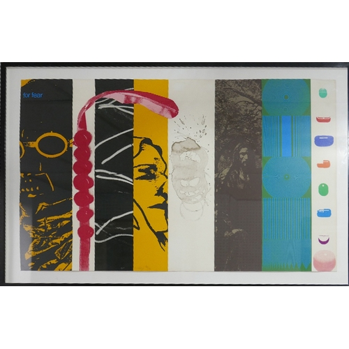 37 - R B Kitaj (1932-2007), For Fear, lithograph, signed lower left, limited edition 66/70, circa 1967, 5...