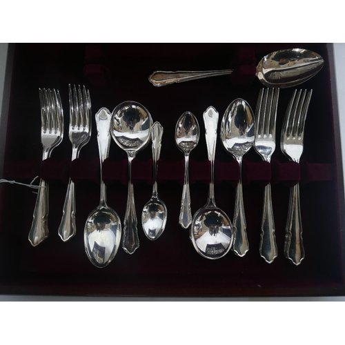 2 - A canteen of Garrard & co silver plated cutlery...