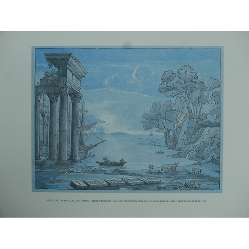 30 - After Ian Hamilton Finlay, 'Apollo and Daphne - Design for a Wall', print, framed, Ingleby Gallery l...
