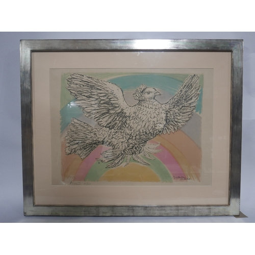 49 - Pablo Picasso (Spanish, 1881-1973), 'Flying Dove with Rainbow', lithograph, signed in pencil by the ...