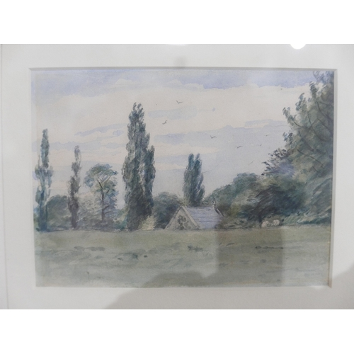 19 - Lionel Bicknell Constable (British, 1828-1887), 'Trees at Dedham', watercolour, inscribed to verso, ...