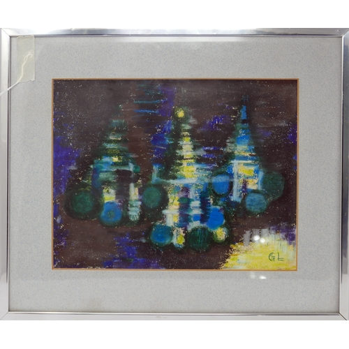 7 - Gerhard Larsson (Contemporary Swedish), abstract, mixed media, signed lower right 'GL', 30 x 35cm...
