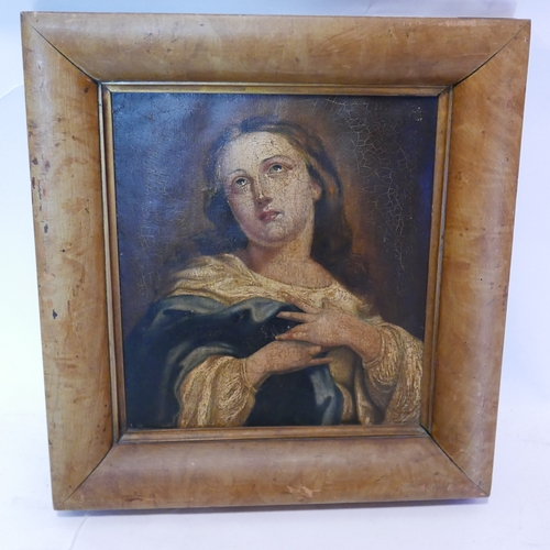 23 - An antique oleograph, portrait of a lady, 32 x 28cm...
