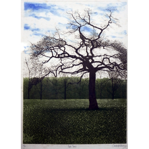 284 - Christopher Penny, two limited edition lithographs titled 'Park Trees' and 'Reflections', 35 x 23cm...
