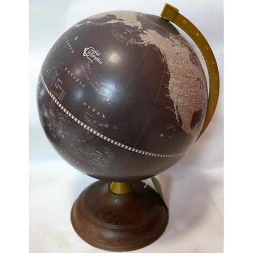 29 - A retro Italian made Zoffoli Geographica globe, on stepped circular base, geo-politically estimated ...