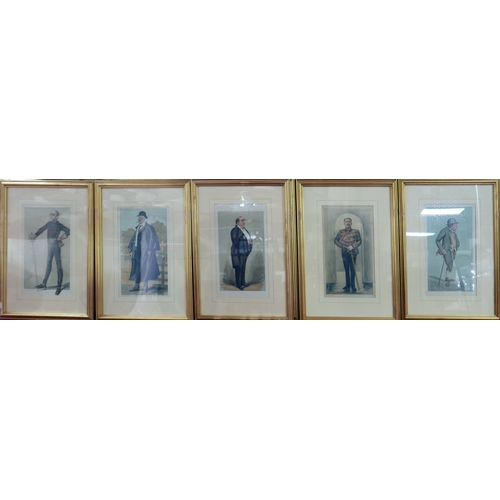 51 - A set of ten Vanity Fair prints, including Spy, G.A. Fothergill, Cloister, Jest and Godfrey Douglas ...