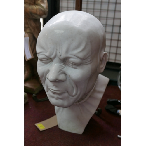 12 - After Franz Messerschmidt, a reproduction reconstituted marble bust from the 'Character Heads' serie...