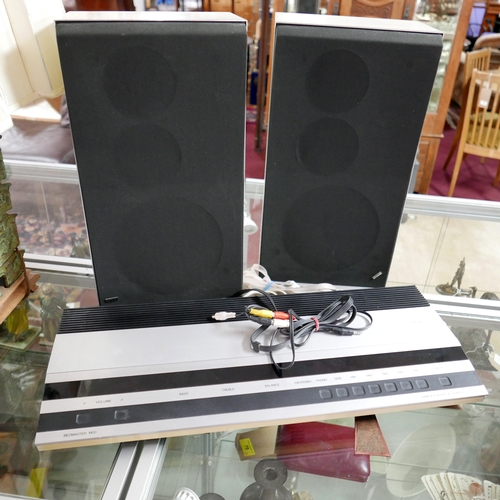 136 - A Bang & Olufsen Beomaster 1900 together with two Beovux s45 speakers...