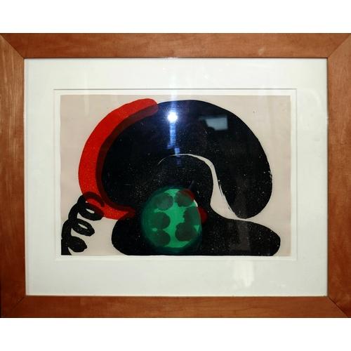 17 - Howard Hodgkin (British, 1932-2017), abstract study, hand coloured intaglio etching, 30 x 43cm...