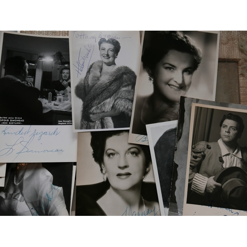 18 - A large collection of 1950's signed theatre photographs, mainly Italian...
