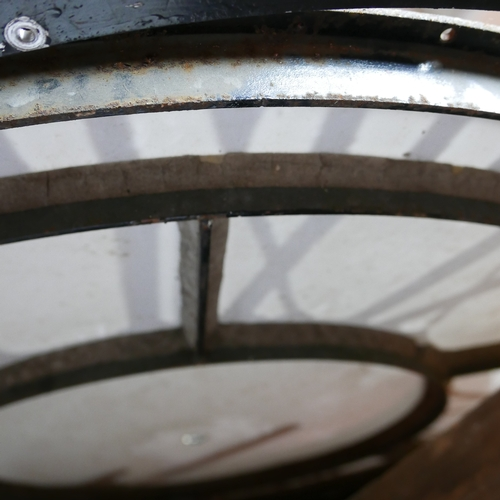 154 - A clock tower clock, number 3 of 3, 122cm diameter...