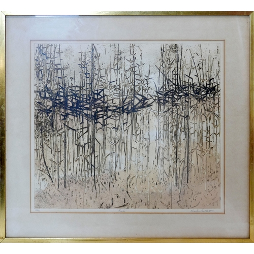 288 - Charles Bartlett, limited edition lithograph titled 'Reeds', numbered 17/40 and signed in pencil, 41...