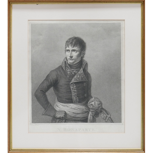 11 - Francesco Bartollozzi (1727 - 1815), engraving of Napolean, 43 x 35cm...
