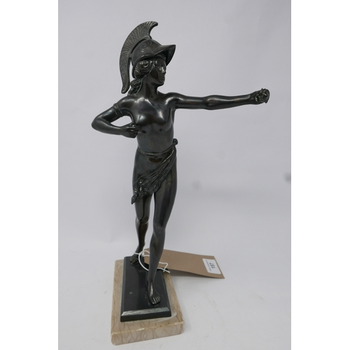 157 - A bronze figure of a classical style huntress. H.33cm...