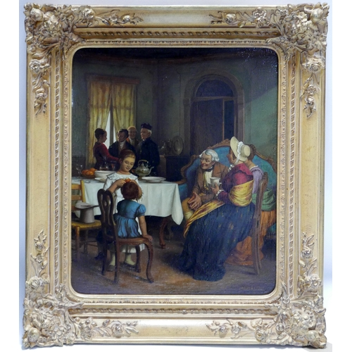 36 - Jacob Membling (Austrian, 1853-1928), Interior scene, oil on panel, signed lower right, 49 x 39cm...
