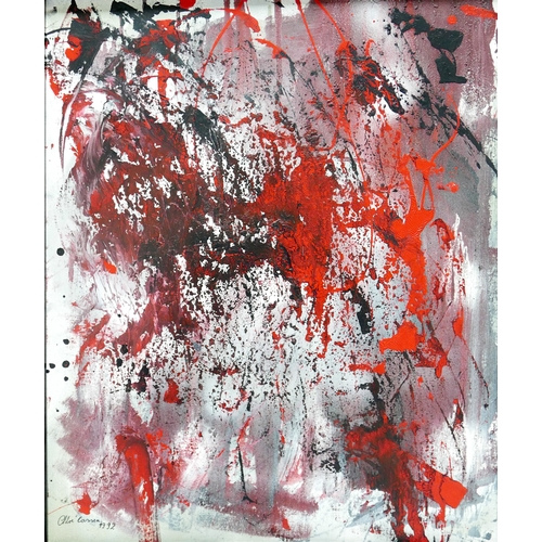 104 - Chloe Cassen, 'Passionate Elegance', abstract study, oil on canvas, oil on canvas, signed and dated ...